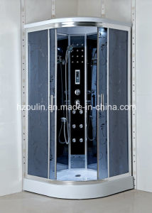Shower Cabin with Acid Design Grey Glass pictures & photos