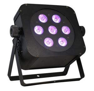 Professional 5in1 Rgbaw Wireless Flat LED Stage PAR Light