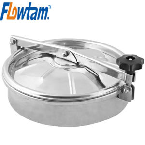 Food Grade Sanitary Stainless Steel Tank Manway Cover pictures & photos