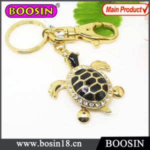 Fashion Promotion Gift Gold Tortoise Metal Keychain pictures & photos