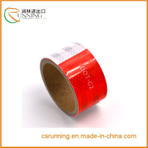 DOT-C2 Reflective Safety Warning Conspicuity Tape Honeycomb Red White pictures & photos