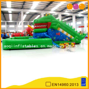 Alligator Inflatable Green Standard Slides (AQ804-3) pictures & photos