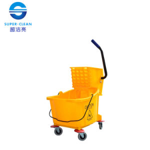 32L Single Mop Wringer Trolley Bucket (B-040B) pictures & photos