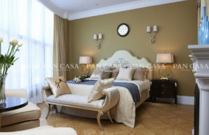 High Quality Classical Wooden Furniture Bedroom Set Bed (MS-A6001g-2)