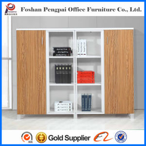 Wooden Panel Filing Cabinet with Four Doors