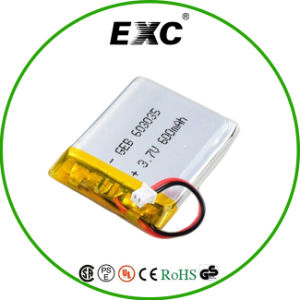 A Grade Cell 3.7V 603035 Rechargeable Li Ion Polymer Battery 600mAh pictures & photos