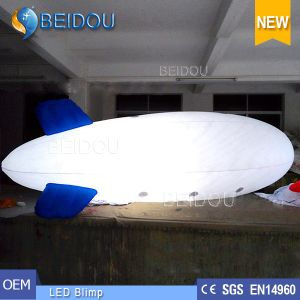 LED Decorative PVC Inflatable Air Helium Advertising Blimp RC Airship