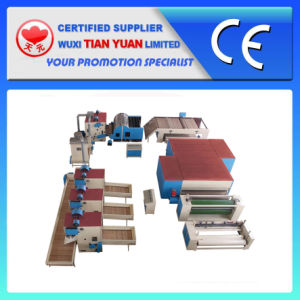 Polyester Fiber Glue Free Wadding Production Line pictures & photos