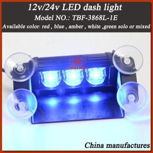 LED Dash Warning Light for Police Car Windshield in Blue Color pictures & photos