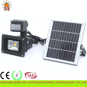 10W IP 65 Outdoor Solar Powered LED Flood Light with PIR Sensor pictures & photos