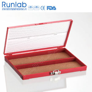 Microscope Slide Storage Box of 100 Place with Hinge Pin pictures & photos