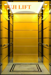 Titanium Gold and Etched Mirror Residential Passenger Elevator pictures & photos
