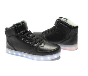 Wholesale High Top USB Charging LED Glow Shoes Flashing Sneakers pictures & photos