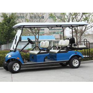 Electric Golf Cart 6-Seater Yellow pictures & photos