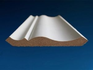 PVC Veneer MDF Skirting Moulding pictures & photos