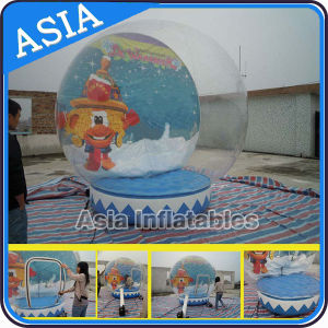 Advertising Giant Inflatable Human Snow Globe, Photo Snow Water Globes, Transparent Inflatable Christmas Snow Globes pictures & photos