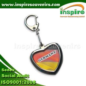 Zinc Alloy Heart Shape Metal Keychain pictures & photos