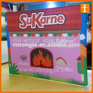 Pop up Stand Tension Fabric Display (TJ-07) pictures & photos
