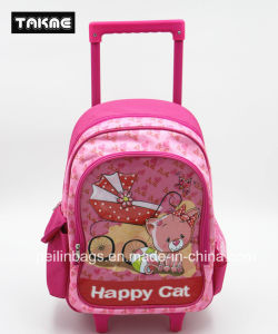 Cartoon Printing Trolley Bag School Bag for Children