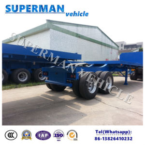 Flatbed 2 Axle Cargo Drawbar Full Semi Truck Trailer/ Dolly Trailer pictures & photos