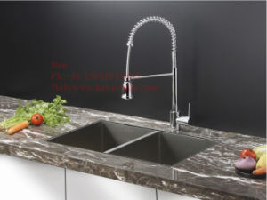 Stainless Steel Equal Double Bowl Handmade Kitchen Sink with Cupc Approved pictures & photos