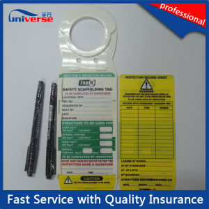 OEM Construction Safe Tag Scaffolding Tag for Erection & Inspection Record pictures & photos