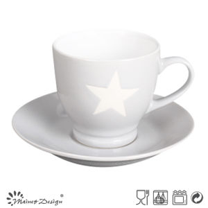 3oz Cup and Saucer with Star Design Grey Color pictures & photos