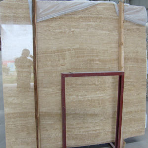 Beige Wood Serpeggiante Big Marble Travertine, Marble Slab pictures & photos