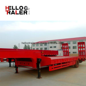 China Factory 50 Ton 3 Axle BPW Axle Low Bed Trailer for Sale pictures & photos