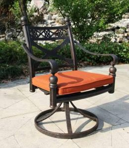 Outdoor Cast Aluminum Swivel Chair Furniture pictures & photos