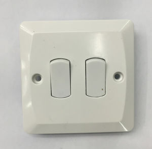 2 Gang 1way Plate Switch High Quality
