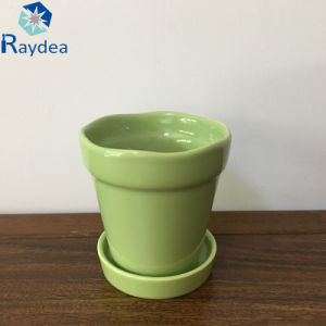 White Color Ceramic Pot for Flower pictures & photos