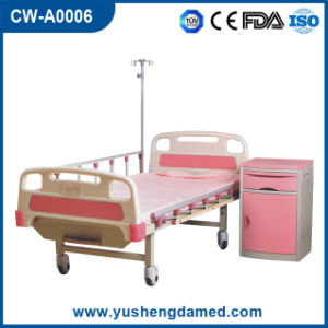 Two Function Adjustable Medical Fold Patient Bed Cw-A0006 pictures & photos