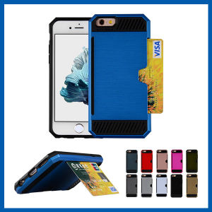Shockproof Card Slot Kickstand Armor Case for iPhone 6s pictures & photos