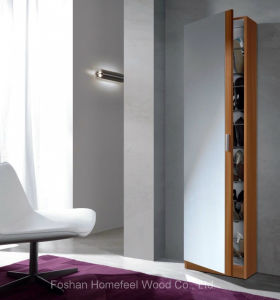 Tall Slim Shoe Storage Cabinet Full Length Mirror Door (HF-EY0825) pictures & photos