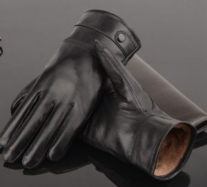 Sheep Leather Glove/Warm Men Gloves pictures & photos