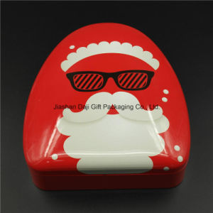 New Arrival Decorated Christmas Tin Box Cookie Candy Gift Box (T003-V9) pictures & photos
