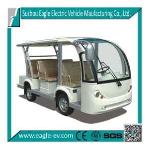 Electric Sightseeing Bus, 8 Seat, Automatic Drive, No Gear Box, Four Wheel Hydraulic Brake, Optional Solar Panel, Power Steering pictures & photos