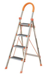 Household 4 Steps Ladder with Stainless Steel pictures & photos