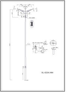 Q345 S355 Lighting Column Roadway Lighting Poles pictures & photos