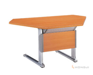 Multi-Purpose Folding Office Table, Training Desk in Seminar Room with Smooth Clear Coated Finished Top pictures & photos