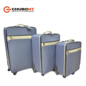 Chubont High Qualilty Nylon with PU 4 Wheels Luggage Set pictures & photos