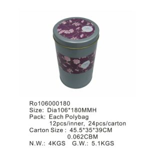 Round Tea Tin Box with Competitive Price pictures & photos