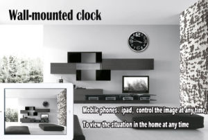 H. 264 CCTV Camera 720p WiFi Wireless Wall Clock Camera pictures & photos