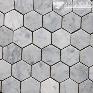 Polished White Marble Mosaic Tiles for Bathroom Floor/Swimming Pool (mm-013) pictures & photos