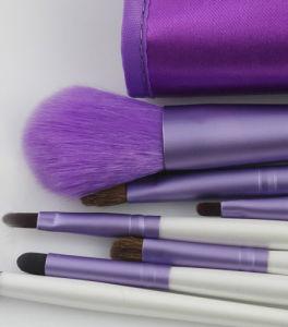 7 Pieces Super Amart Light Purple Portable Makeup Brush pictures & photos