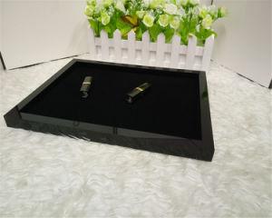 Black Acrylic Jewelry Box Desktop Storage Tray Makeup Organizer pictures & photos