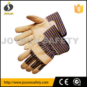 Leather Work Glove Industrial Safety Rigger Gloves (CA3281)