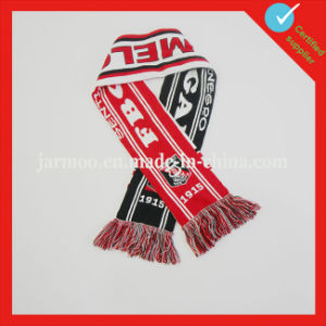 Custom Knitted Acrylic Football Scarf pictures & photos