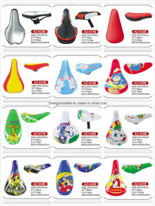 Soft Leather Kids Bicycle Saddle Az-021b pictures & photos